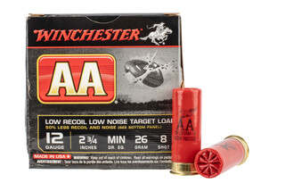 "Winchester AA Low Recoil 2.75"" 12 Gauge 1oz #8 Shot"