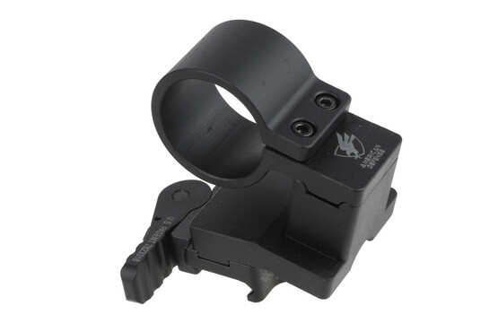 The American Defense Magnifier Mount with lower 1/3rd co-witness features a quick detach auto lock lever design