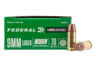 Federal American Eagle 9mm 70gr Lead-Free Ammo in Box of 50