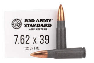 Century Arms Red Army Standard 7.62x39mm ammo with 122 gr FMJ bullets