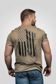 Nine Line America Short Sleeve T-Shirt in coyote, back view