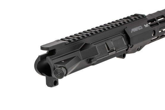 The Aero Precision Barreled upper receiver with S-ONE handguard features a hardcoat anodized finish