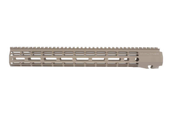 Areo Precision free float 15in ATLAS R-ONE M-LOK handguard has a tough FDE finish