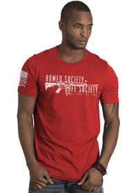 Nine Line Armed Society Defend 2A Short Sleeve T-Shirt in Red