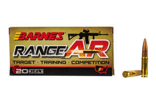 Barnes Range AR 300 BLK ammunition features a 90 grain open tipped flat base bullet