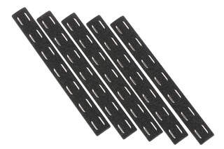The Bravo Company Manufacturing M-LOK rail panel kit comes with 5 black polymer rail covers