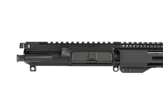 Radical Firearms complete 16 inch AR-15 upper in 5.56 NATO has a mil-spec charging handle, port door, and forward assist