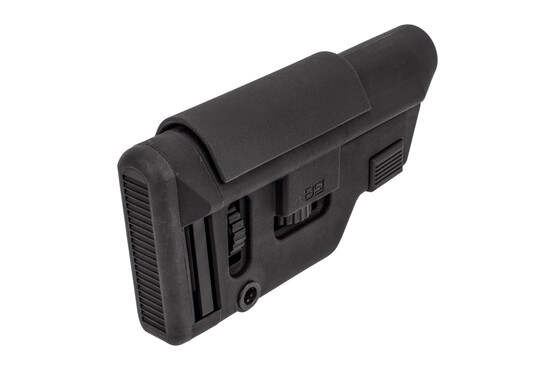 B5 Precision Stock features an adjustable cheek riser and buttpad