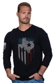 Nine Line Lonestar Long Sleeve T-Shirt in Black
