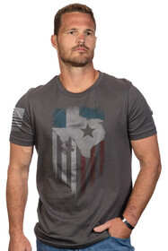 Nine Line Lonestar Short Sleeve T-Shirt in Heavy Metal Grey