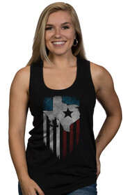 Nine Line Women's Lonestar Racerback Tank Top in Black