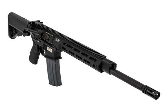 Lewis Machine & Tool MARS rifle 5.56 features a monolithic M-LOK handguard