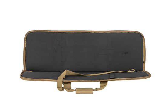NcSTAR's 36in single rifle case is tan and features straps to secure your rifle and protect your carbine.