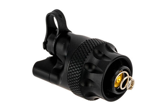 SureFire Scout Light Dual Switch Tailcap fits most SureFire scout lights and remote tape switches. Black anodized finish