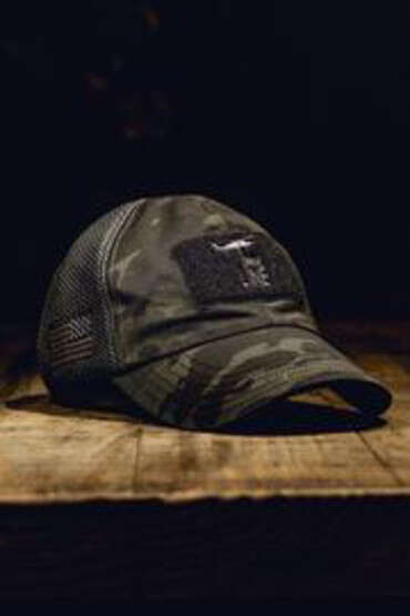 Nine Line Mesh Back Camo Hat in camo, front view