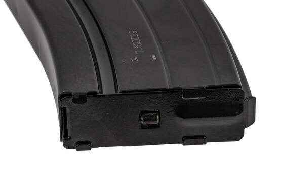 The E-Lander 7.62x39 AR 17 round magazine features a removable floor plate