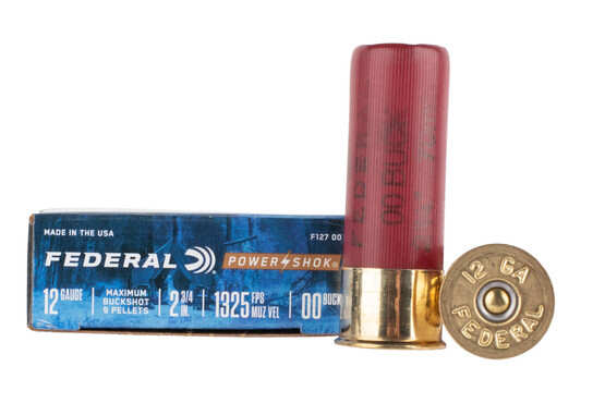 Federal Power Shok 12 gauge ammo is loaded with 00 buckshot