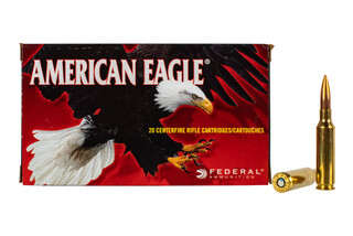 Federal American Eagle 6.5 Creedmoor ammo features a 120gr open tip match bullet