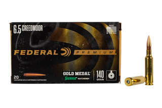 Federal Premium Gold Medal Match 6.5 Creedmoor features the Sierra MatchKing boat tail hollow point bullet