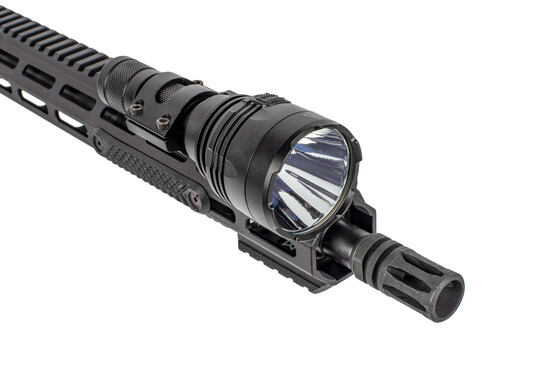 The Nitecore P30 Hunting light comes with a rail mount and pressure switch