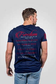 Nine Line Freedom 1A Short Sleeve T-Shirt in Navy with Freedom 1A Graphic