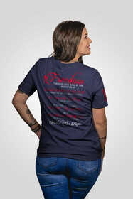 Nine Line Freedom 1A Short Sleeve Women's T-Shirt in Navy features cotton material