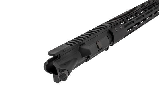 The Radical Firearms 5.56 NATO upper receiver group features a hardcoat anodized black finish