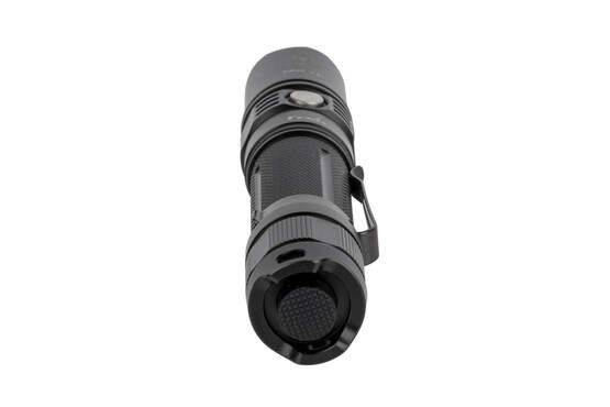 The Fenix tactical flashlight PD35 has a tailcap switch for momentary on