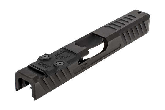 GGP stripped V3 Glock 17 Gen3 slide with dual optic cut includes a G10 cover plate, shim plate, and mounting screws.
