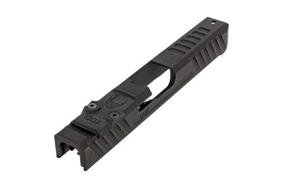 GGP stripped V3 Glock G17 Gen4 slide with dual optic cut includes a G10 cover plate, shim plate, and mounting screws.
