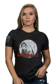 Nine Line Grit and Grace womens short sleeve shirt in heather grey