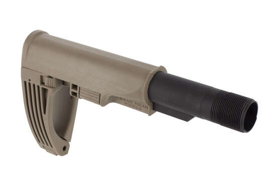 Gear Head Works Tailhook Mod 2 AR-15 pistol brace is adjustable for optimal length with a FDE finish