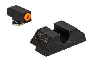 Night Fision Perfect Dot Night Sight Set with U-notch, Orange front and Blank rear ring for standard Glock handguns.
