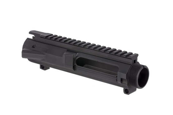 The Guntec USA .308 upper receiver features a low profile shell deflector