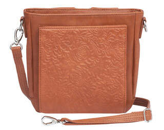 Gun Tote'n Mamas Mini Boho Cross-Body Concealed Carry Purse in Tan