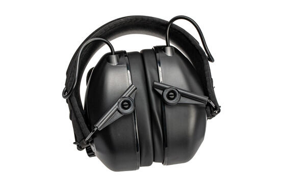Walker's passive bluetooth earmuffs fold to a compact package for easy storage.