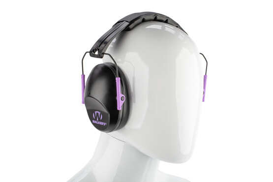 Walker's Pro-Low Profile Folding Muffs in Black/Purple