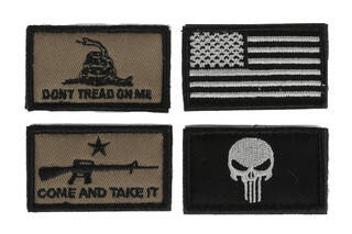 The Walkers patriot patch kit american flag version comes with four different morale patches