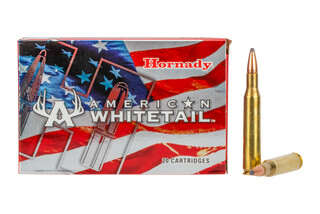 The Hornady Ammunition American Whitetail 270 win interlock bullet comes in at 140 grains
