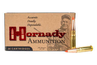 Hornady Super Performance Match 300 Blackout ammo with 110gr GMX hunting bullets in 20-round boxes.