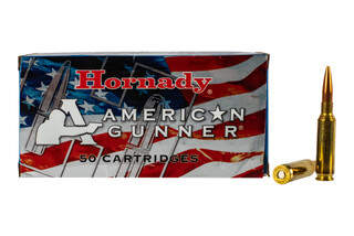 Hornady American Gunner 6.5 Creedmoor ammo features a 140 grain boat tail hollow point ammunition