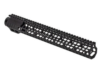 "SLR Rifleworks HELIX series 13.7"" M-LOK rail for the AR-15 with full length top rail with black anodized finish."