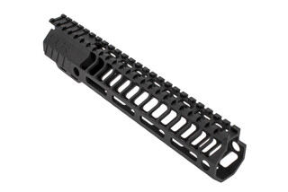 "SLR Rifleworks HELIX series 9.7"" M-LOK rail for the AR-15 with full length top rail with black anodized finish."
