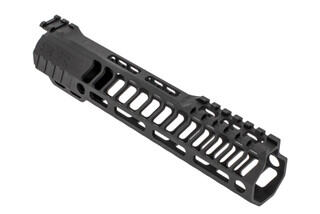 "SLR Rifleworks HELIX series 9.0"" M-LOK rail for the AR-15 with interrupted top rail with black anodized finish."