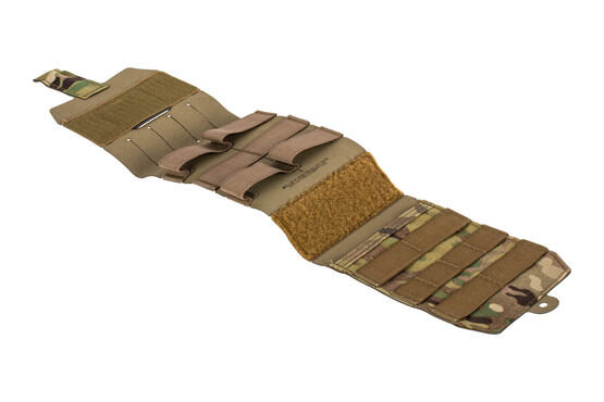 The Blue Force Gear Empty Trauma Kit Now multicam opens up for easy access to medical supplies