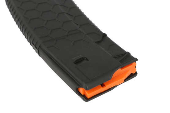The Hexmag 10 round magazine for 5.56 AR-15 rifles features an anti tilt follower