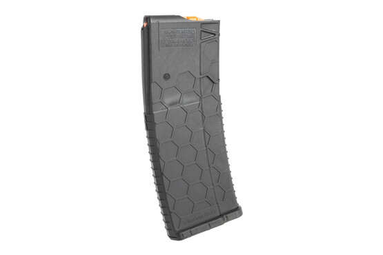 The Hexmag AR magazine holds 10 rounds of 5.56 NATO ammunition