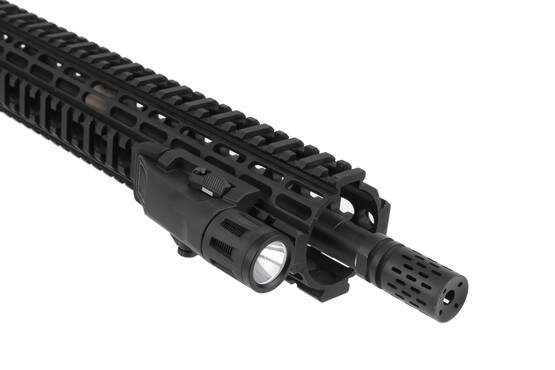 This ergonomic compact weapon light can be mounted on any part of your rail and is easy to reach