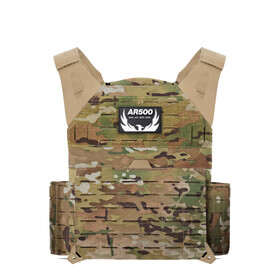 AR500 Armor Invictus plate carrier in multicam