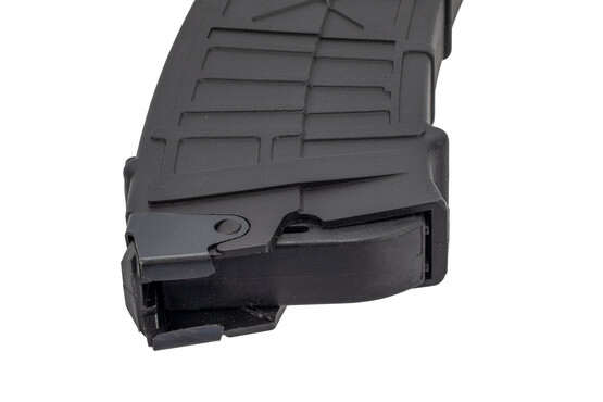 "JTS Group 10-round magazine hold 2 3/4"" or 3"" shells of 12-gauge ammunition with steel feed lips."